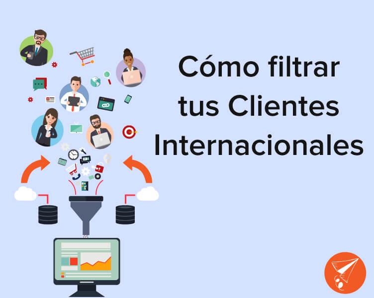 filtrar clientes internacionales