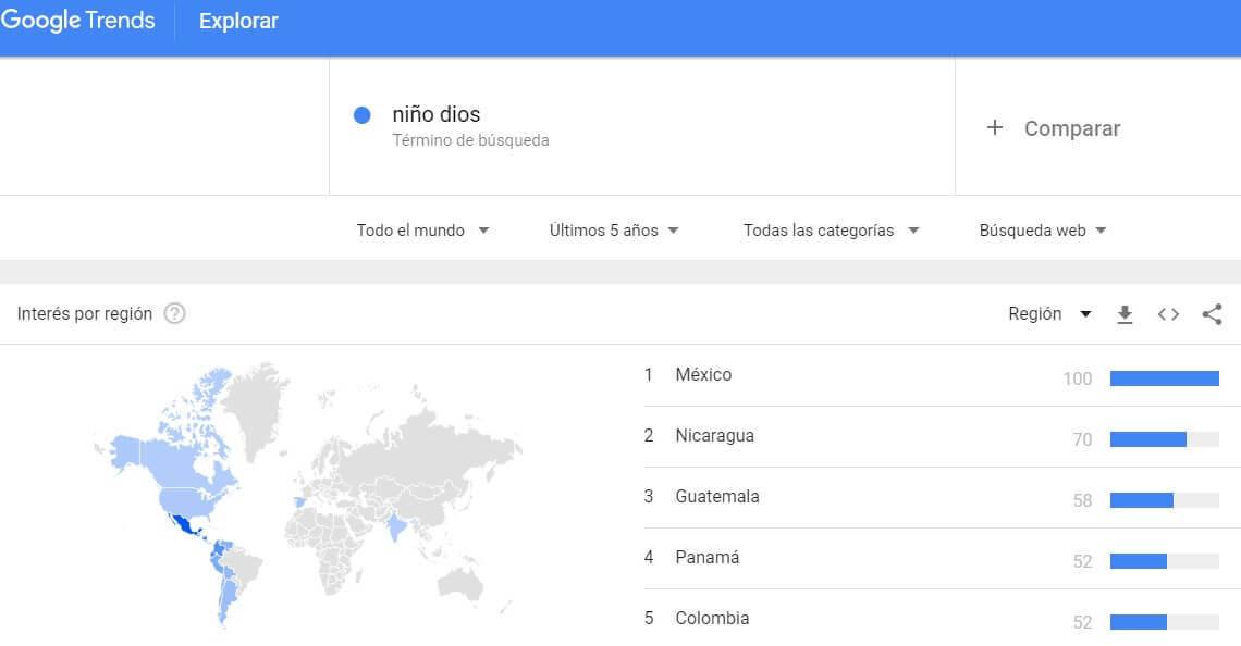 google trends niño dios vender en navidad