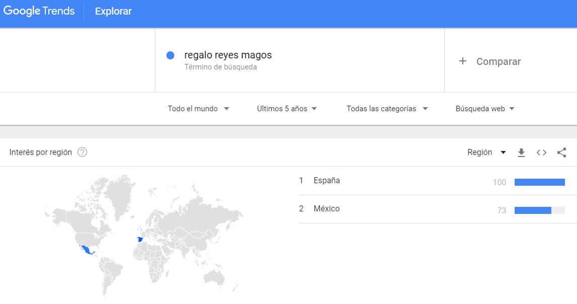 google trends reyes vender en navidad