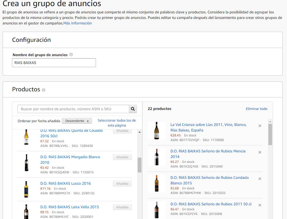 amazon productos patrocinados grupo anuncios